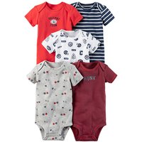 5 Pcs Printed Daily Rompers Set