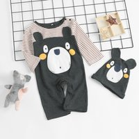 Animal Design Jumpsuit with Hat