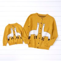 Knit Alpaca Pattern Matching Sweaters