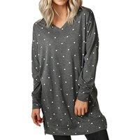 Casual Loose Dot Long size T-shirt