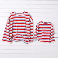 Loose Striped Long sleeve Matching T-shirt