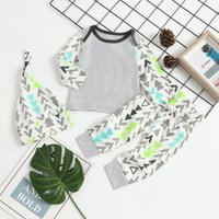 3-piece Geometric Long Sleeves Set