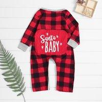 Christmas Santa Baby Checkered Jumpsuit
