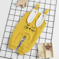 Embroidered Rabbit Overalls