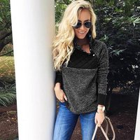 Comfy Street Style Splice Fuzzy Design Top For women