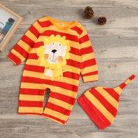 Striped Lion Jumpsuit with Hat