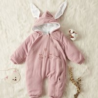 Quilted Ears Hooded Jumpsuit