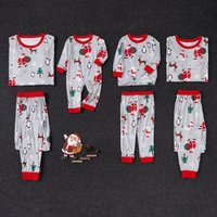 Santa Pattern Family Matching Pajamas