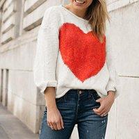 Women's Sweat-heart Colorblock Sweater