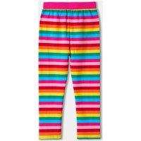 Rainbow Stripe Girls Leggings