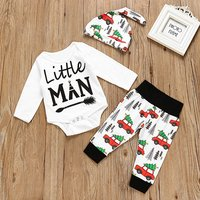 3-piece Baby LITTLE MAN Bodysuit Set