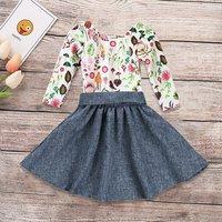 U-Back Floral Top and Skirt Set