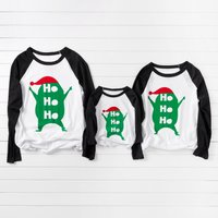 Green Monster Print Family T-shirts