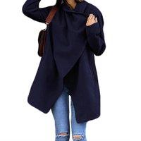 Irregular Edge Woolen Coat
