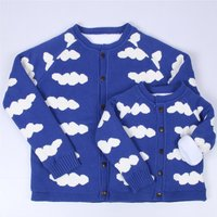 Matching Clouds Cardigans in Blue