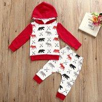 Christmas Animal Print Baby Pajama Set