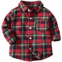 Christmas Red Tartan Plaid Shirt