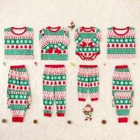 Striped Christmas Pajamas With Christmas Tree for Family