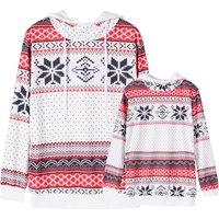 Christmas Snowflake Print Matching Sweatshirts Hoodies