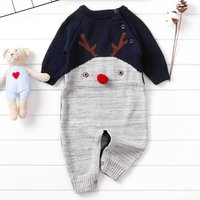 Christmas Knit Deer Jumpsuit for Baby