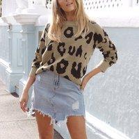Women Stylish Leopard Sweater