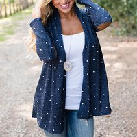 Women's Wave Point Solid Cardigan