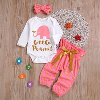 3 Pcs Little Peanut Elephant Polka Dots Set