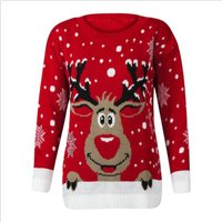 Stylish Christmas Deer Patterned Long-sleeve Sweater