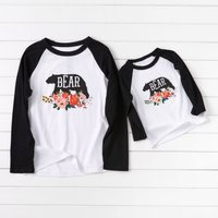 Bear On Flower Matching T-shirts