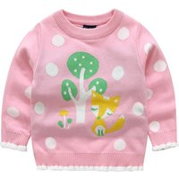 Winter Warm Thick Deer Graphic Polka Dots Sweater