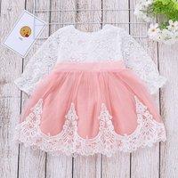Lace Stitching Tulle Princess Dress