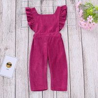 Backless Ruffle Fleece Jumpsuit