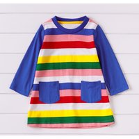 Rainbow Stripe Girls Dress