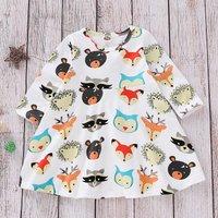 (Only 1 Left for 9-12M)Long Sleeve Animal Dress