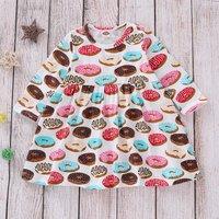 Round Collar Donuts Print Dress
