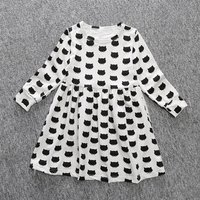 Toddler Girl Cat Print Dress