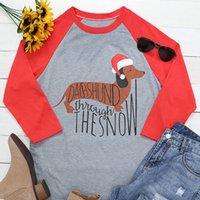 Lovely Dog Printed Long-sleeve Shirt for Women