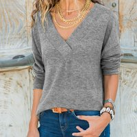 Solid Color Thin Loose Knit Sweater