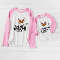 Mommy and Me Cute Deer Matching T-shirts