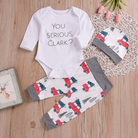 3-piece Car and Letter Printed Set for Baby