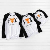 Family Fox Matching Long Sleeve T-shirts