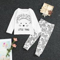 2-piece Little Hedgehog Printed Set