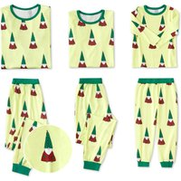 Special Fluorescent green Family Pajamas for Christmas