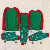 Green Trees Family Pajamas for Christmas