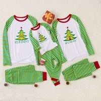 Green Tree Printed Family Pajamas