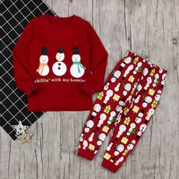 Christmas Snowmen Top and Pants Set