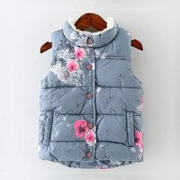 Warm Floral and  Camouflage Cotton Vest