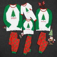 Family Christmas Trees Print Matching Pajamas Set