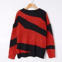 Women's Long Sleeve Stripe Sweater