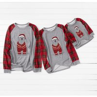 Plaid Sleeve Family T-shirts